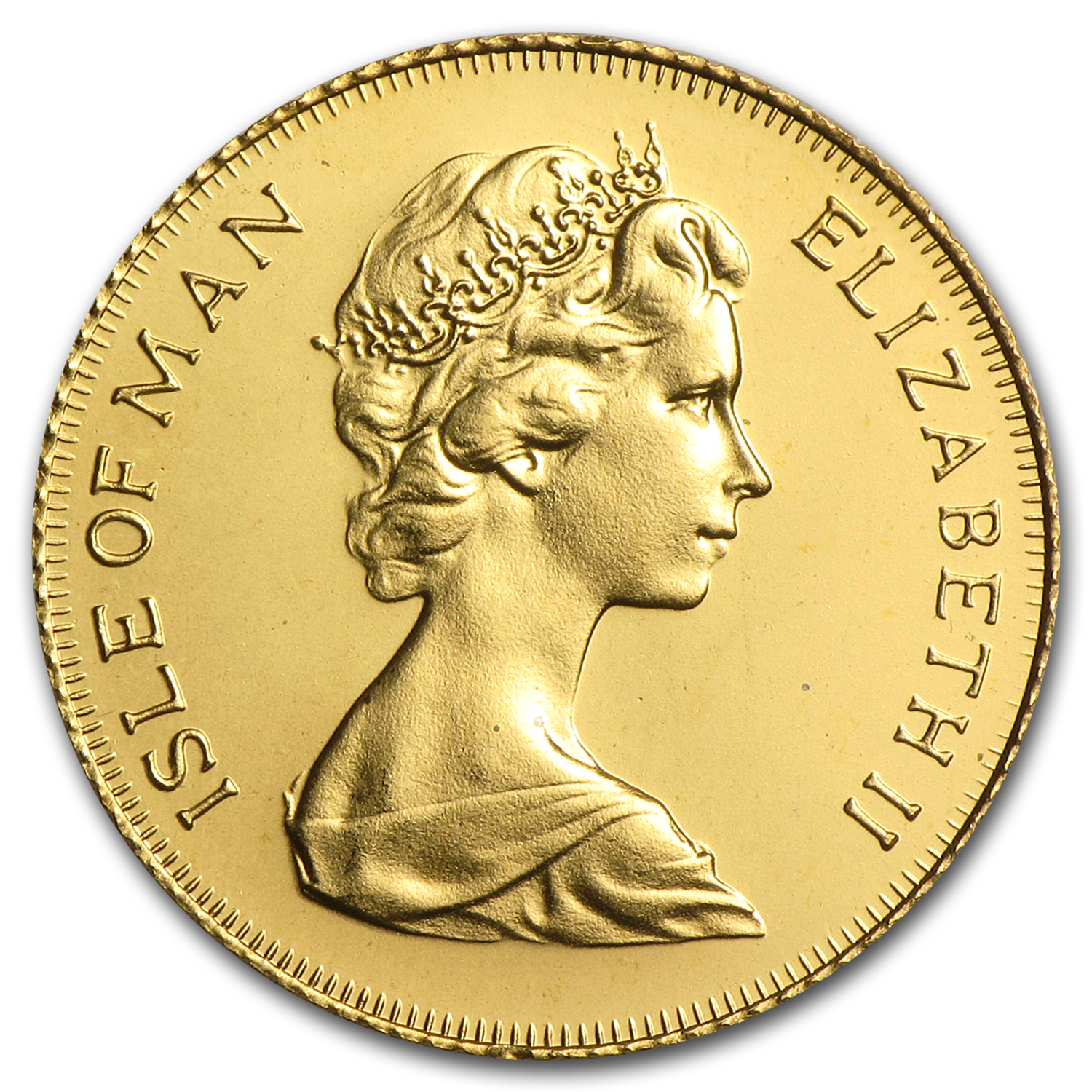 1973-79 Isle of Man Gold 1/2 Sovereign BU (Random)
