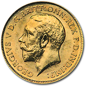 Great Britain Gold 1/2 Sovereigns (George V) (XF)