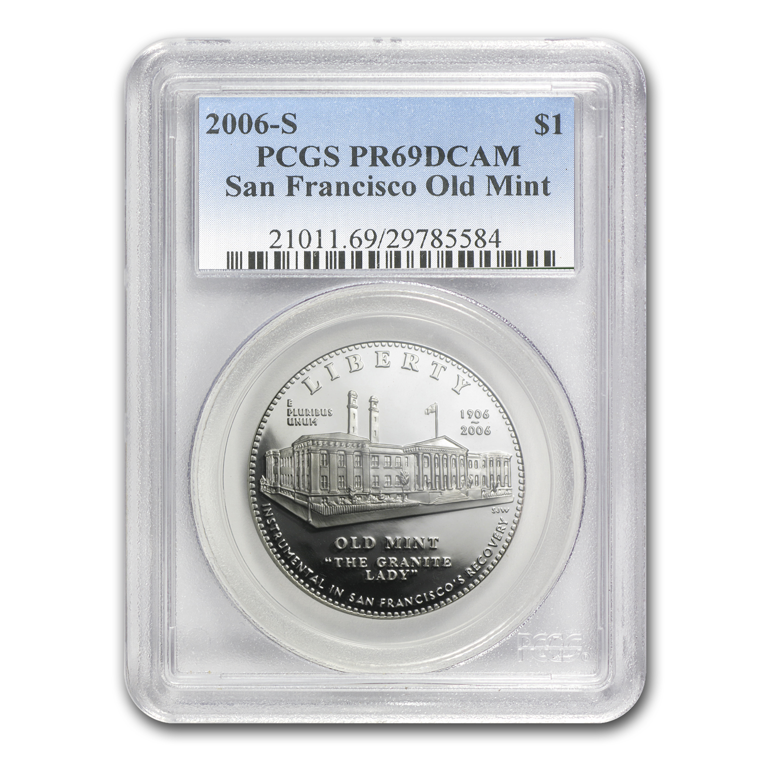 2006-S San Francisco Old Mint $1 Silver Commem PR-69 PCGS