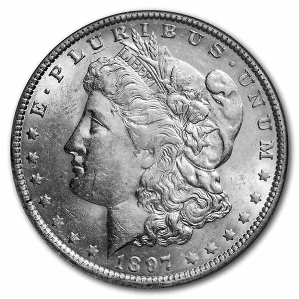 1897-O Morgan Dollar AU-58 NGC