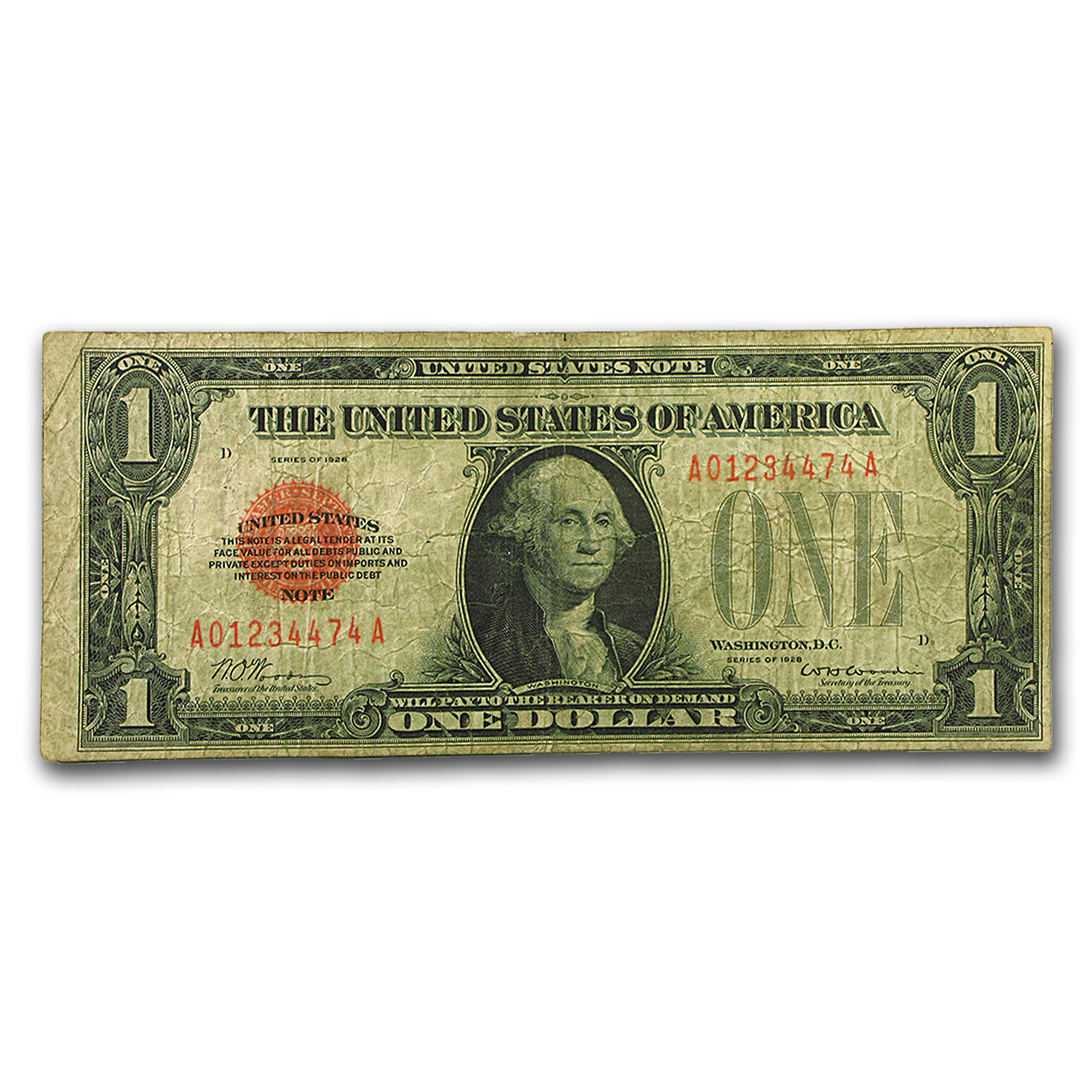 1928 $1.00 U.S. Note (Very Good)
