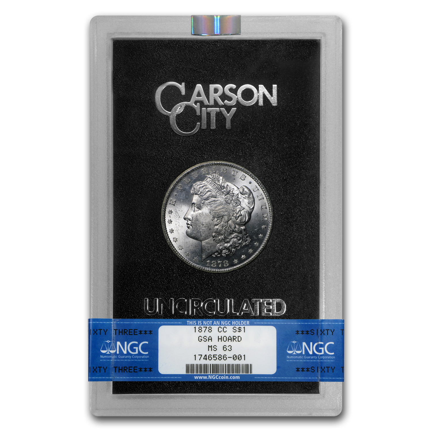1878-CC Morgan Dollar MS-63 NGC (GSA)