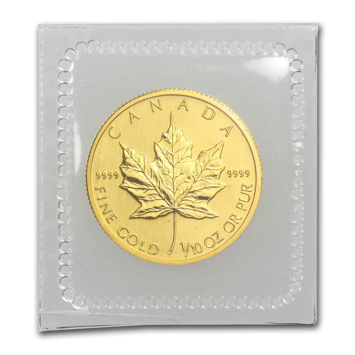 2008 1/10 oz Gold Canadian Maple Leaf