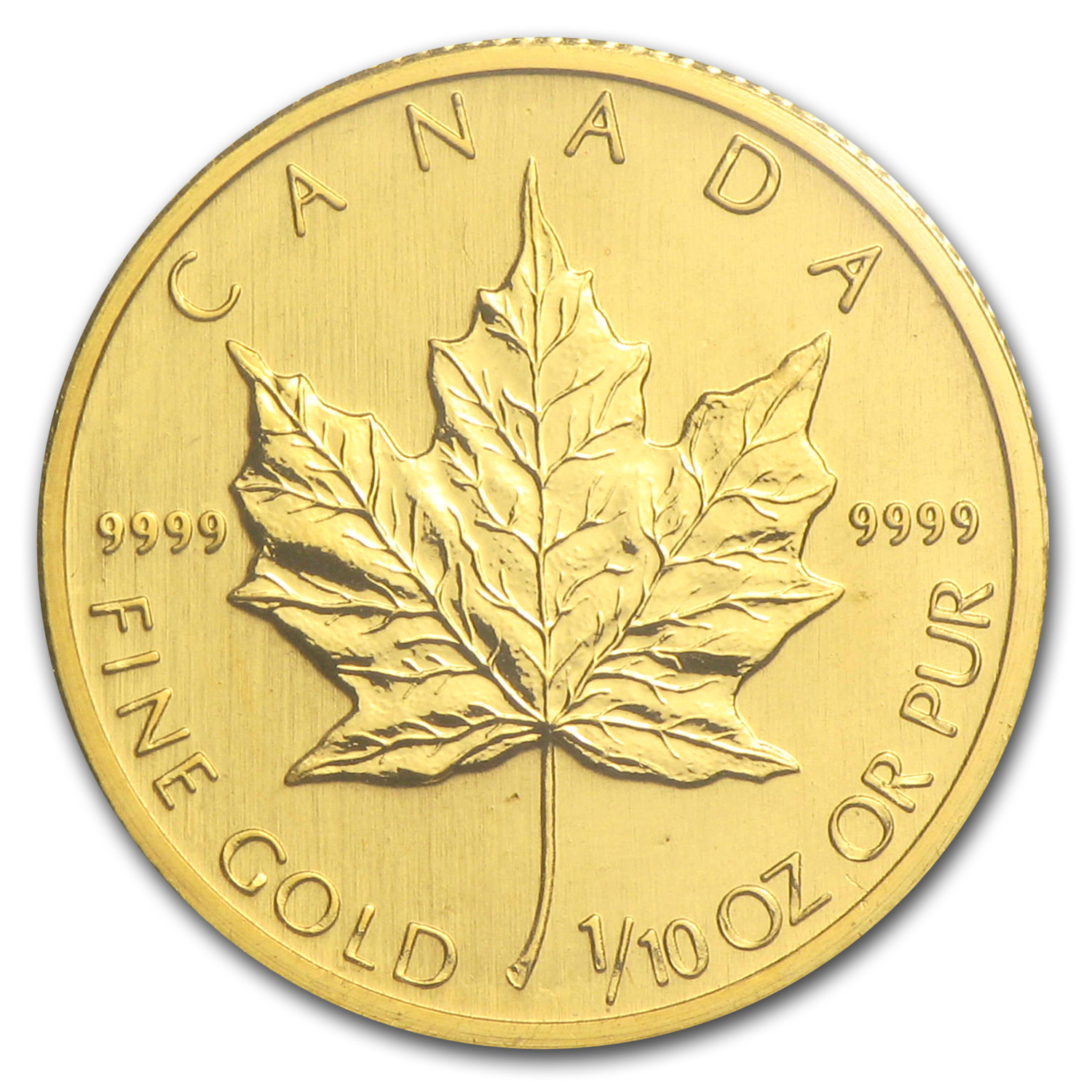 2008 Canada 1/10 oz Gold Maple Leaf BU