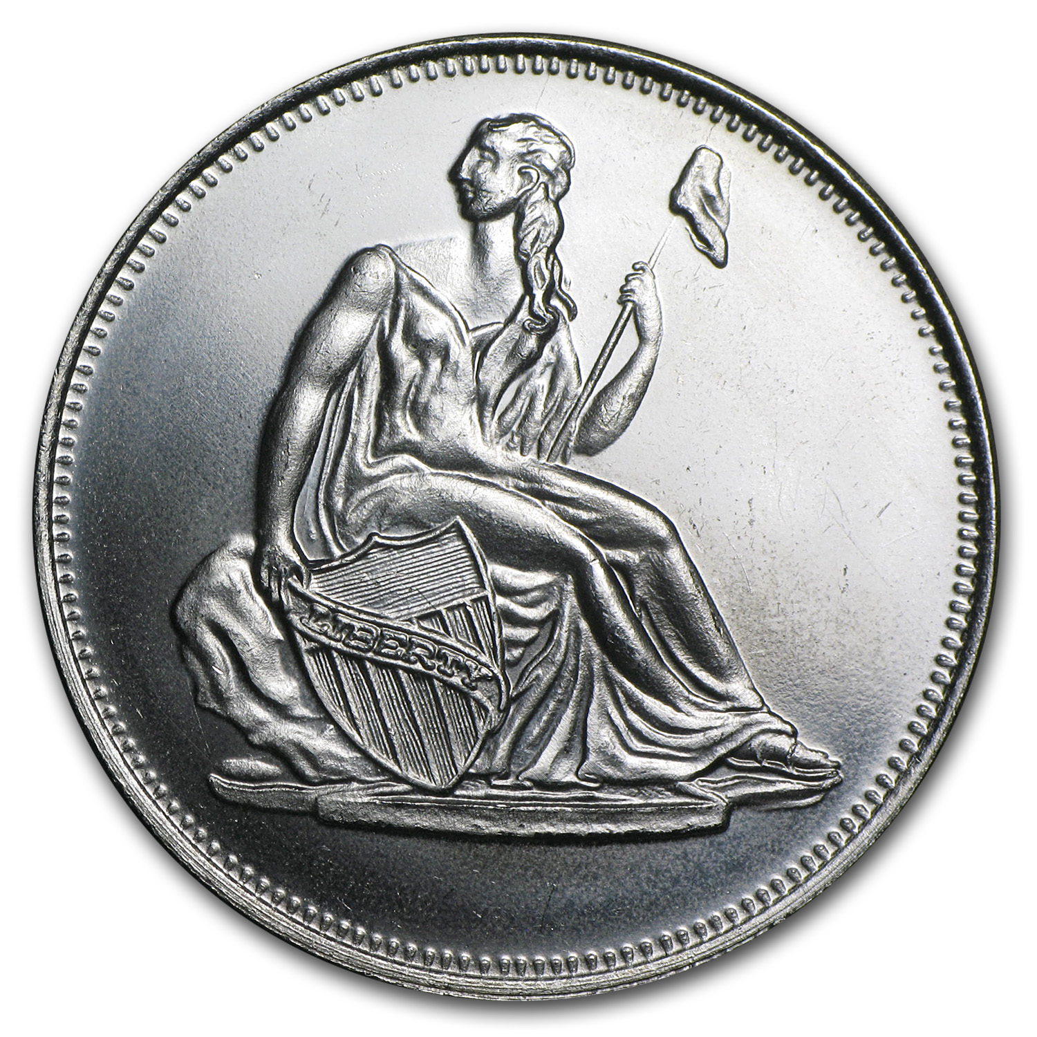 1 oz Silver Round - Seated Liberty Dollar (Replica)