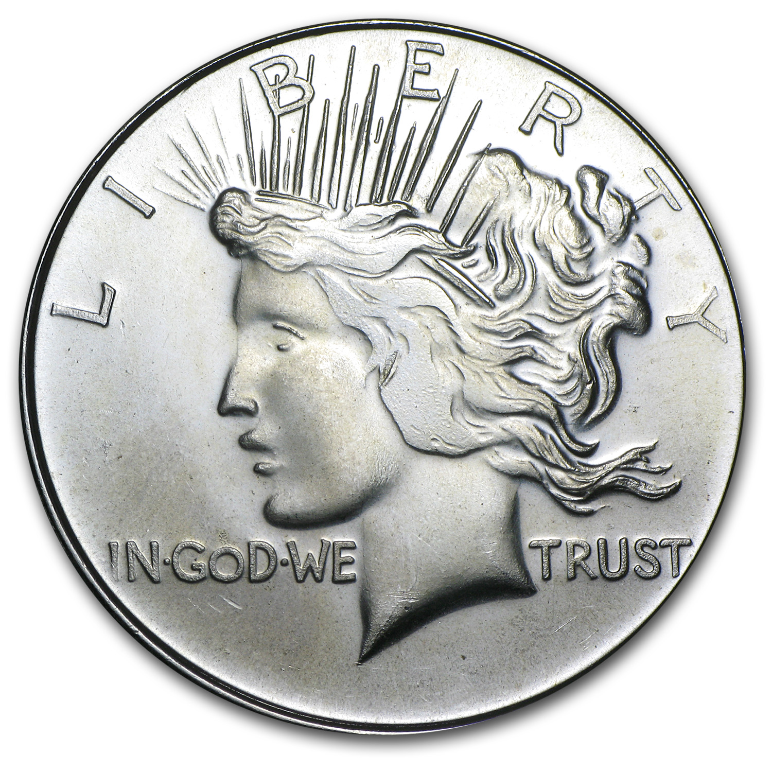 1 oz Silver Round - Peace Dollar (Replica)