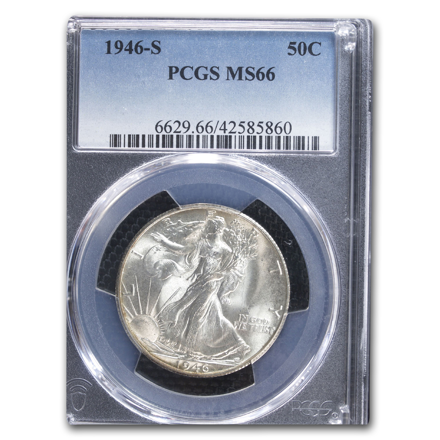 1946-S Walking Liberty Half Dollar MS-66 PCGS
