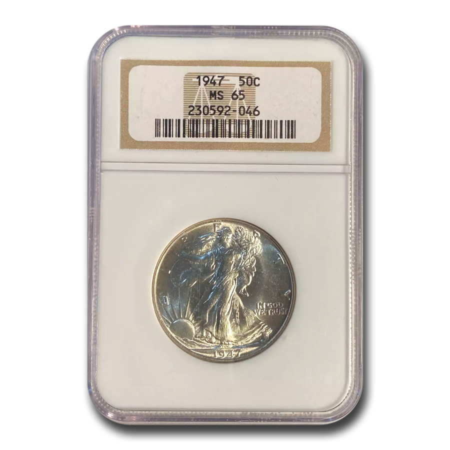 1947 Walking Liberty Half Dollar MS-65 NGC