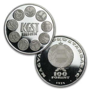 Hungary Silver 100 Forint BU/Proof (ASW .4527)