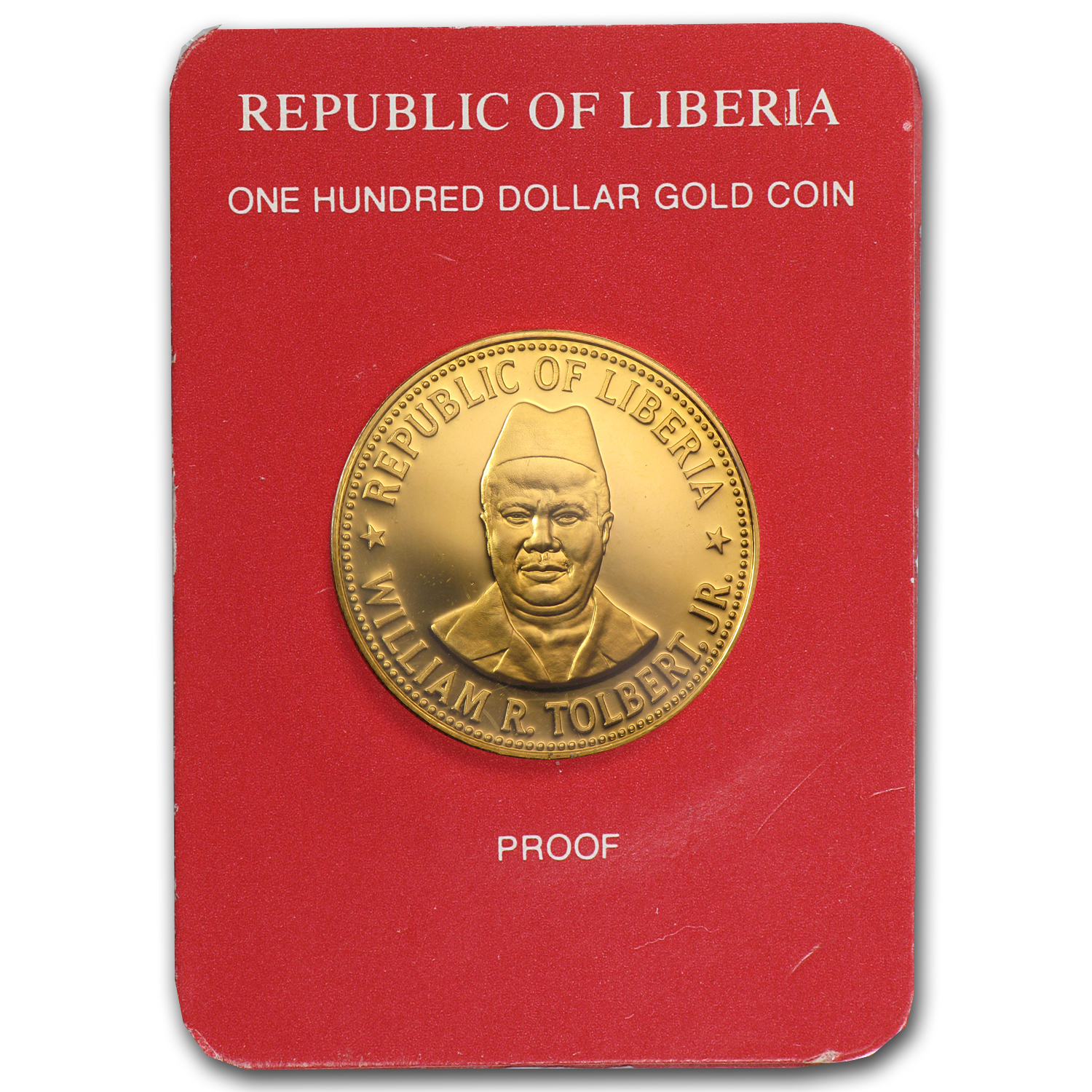 1979 Liberia Proof Gold One Hundred Dollars