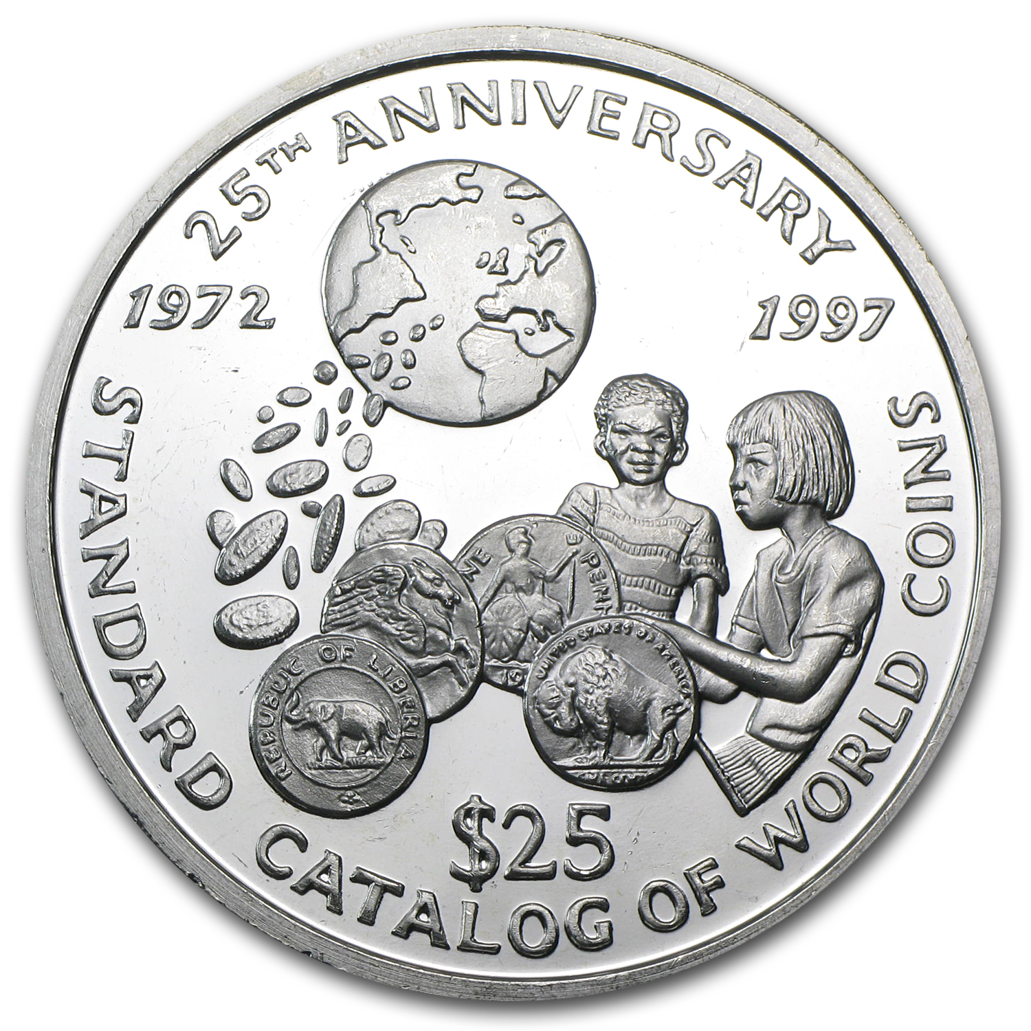 Liberia 1979 25 Dollar Silver World Coin Catalog