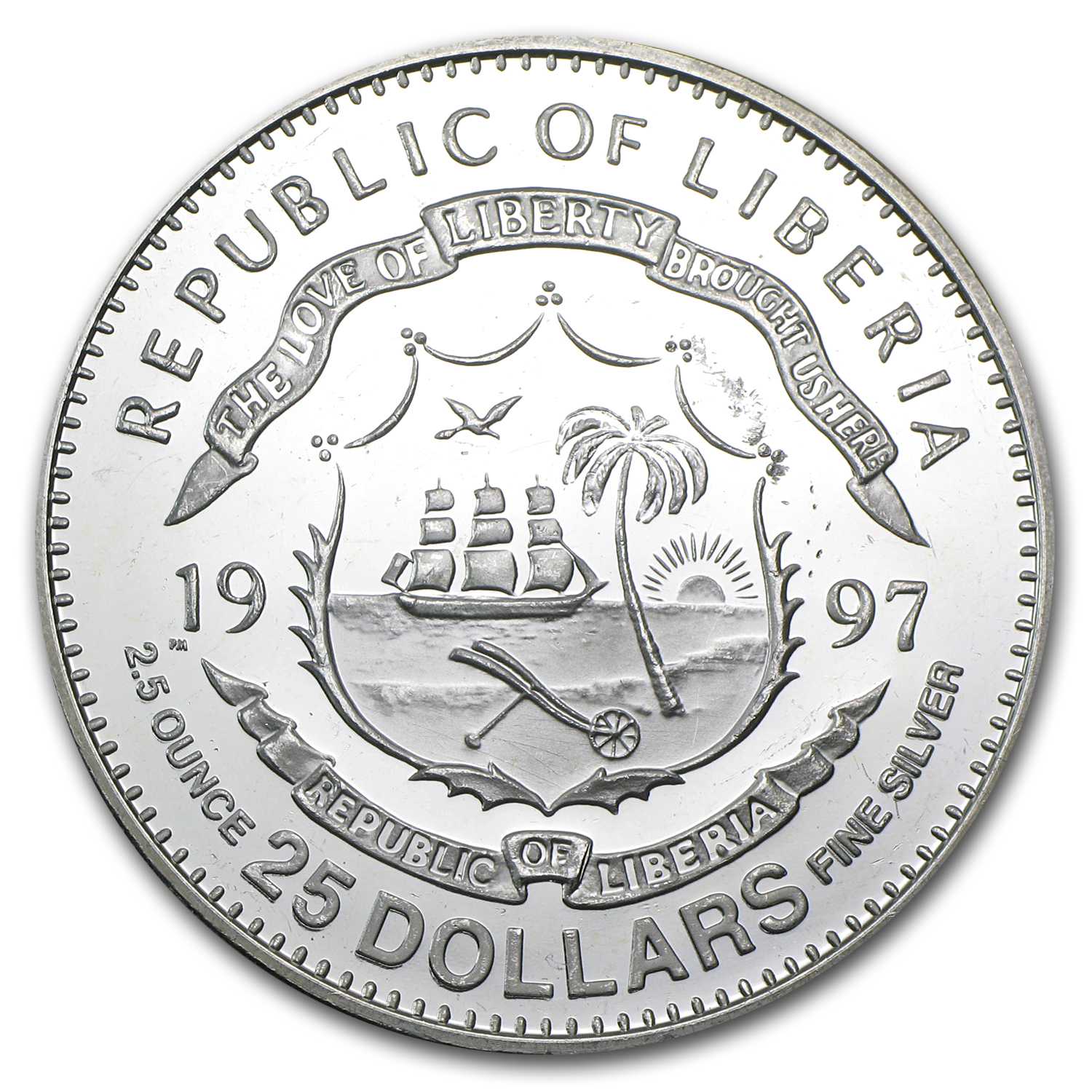 Liberia 1979 $25 Silver World Catalog
