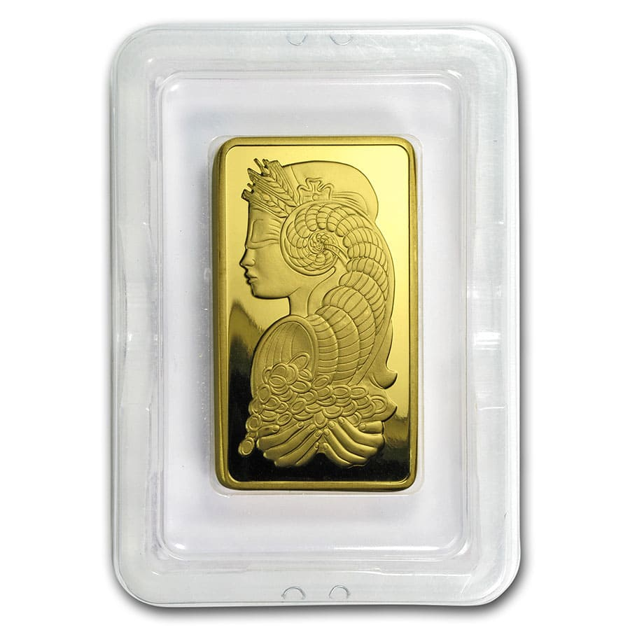 10 oz Gold Bar - Pamp Suisse Lady Fortuna (w/Assay)