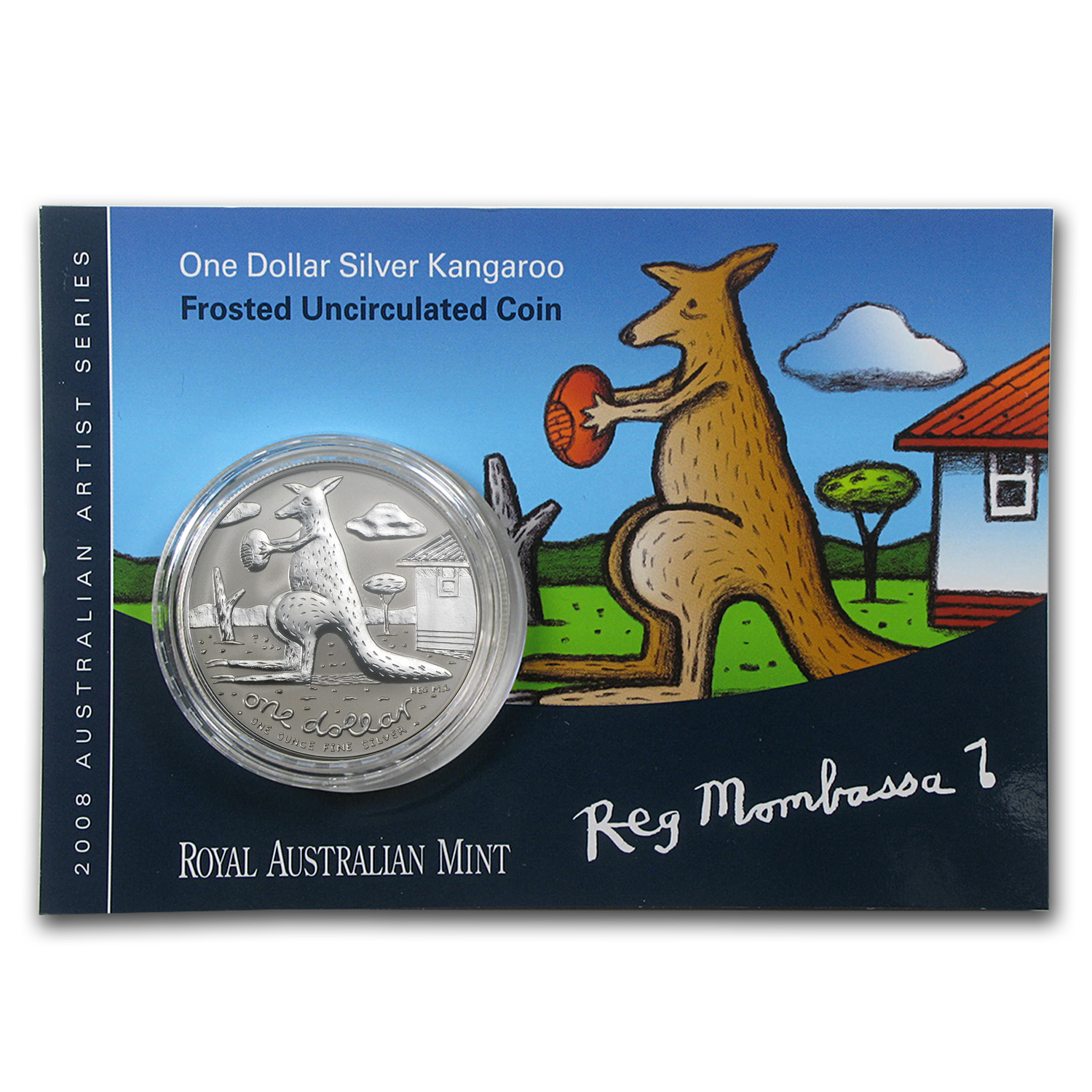 2008 Australia 1 oz Silver Kangaroo (In Display Card)