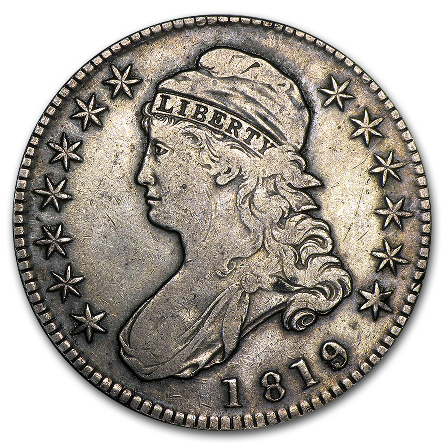 1819 Capped Bust Half Dollar VF