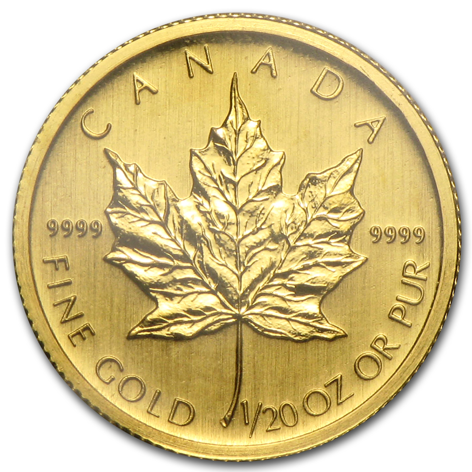 2008 1/20 oz Gold Canadian Maple Leaf