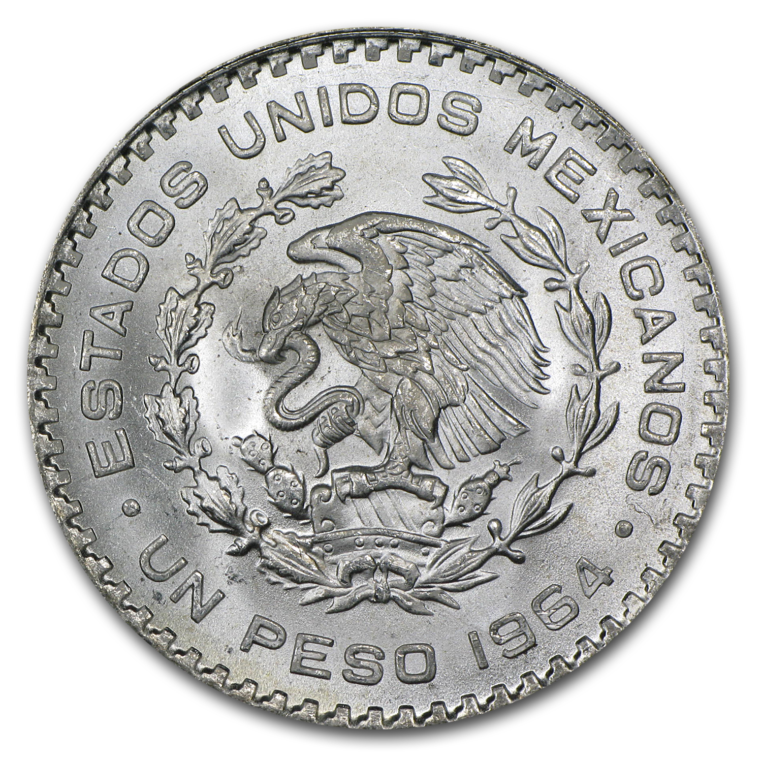 1957-1967 Mexican Silver 1 Peso (AU or Better) ASW .0514 oz