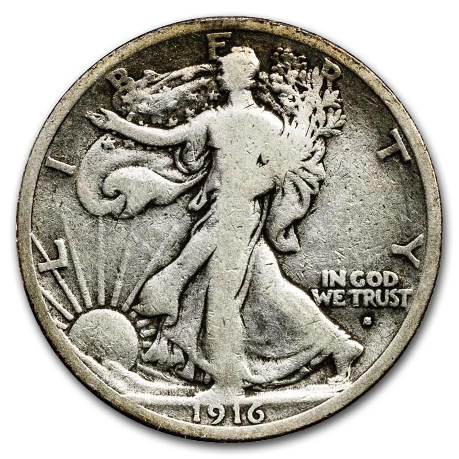 1916-S Walking Liberty Half Dollar Fine
