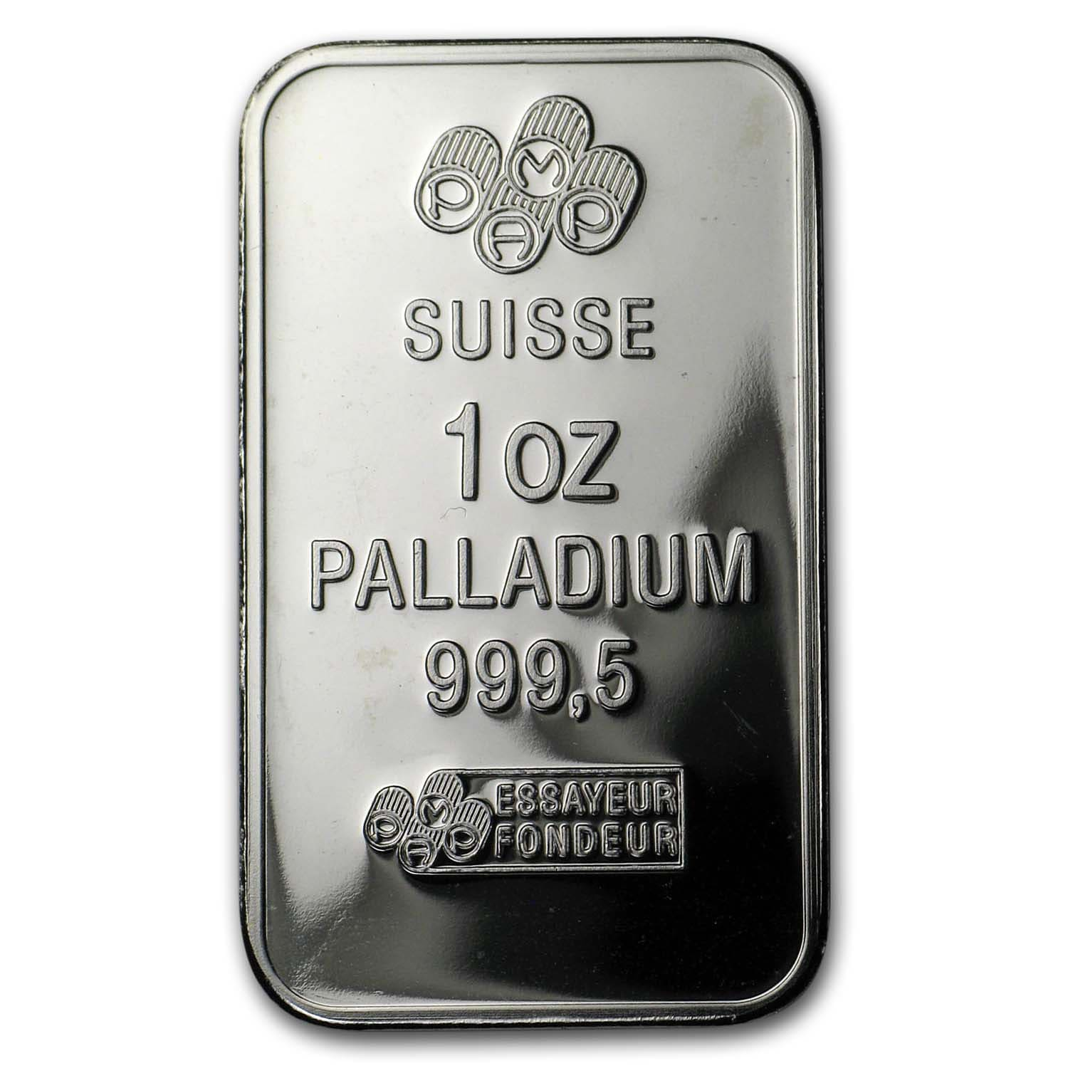 1 oz Palladium Bar Secondary Market .999+ Fine