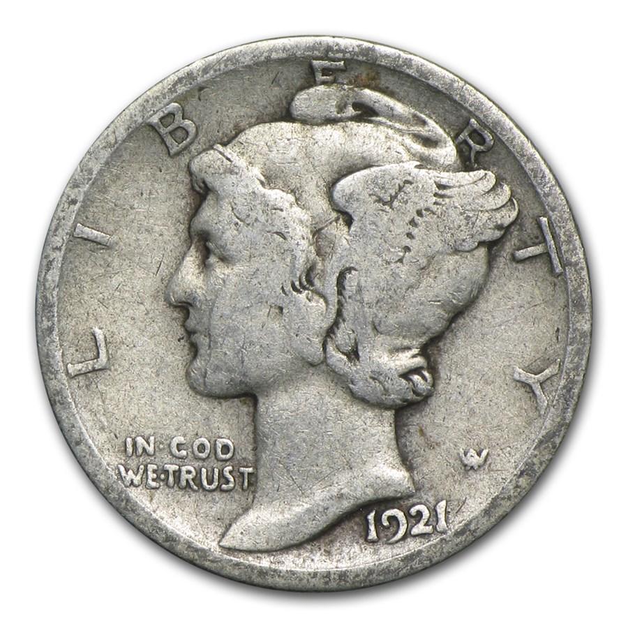 1921 D Mercury Dime Vg Mercury Dimes 1916 1945 Apmex