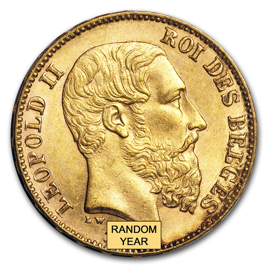 Belgium 1870 - 1882 Gold 20 Francs Uncirculated AGW .1867