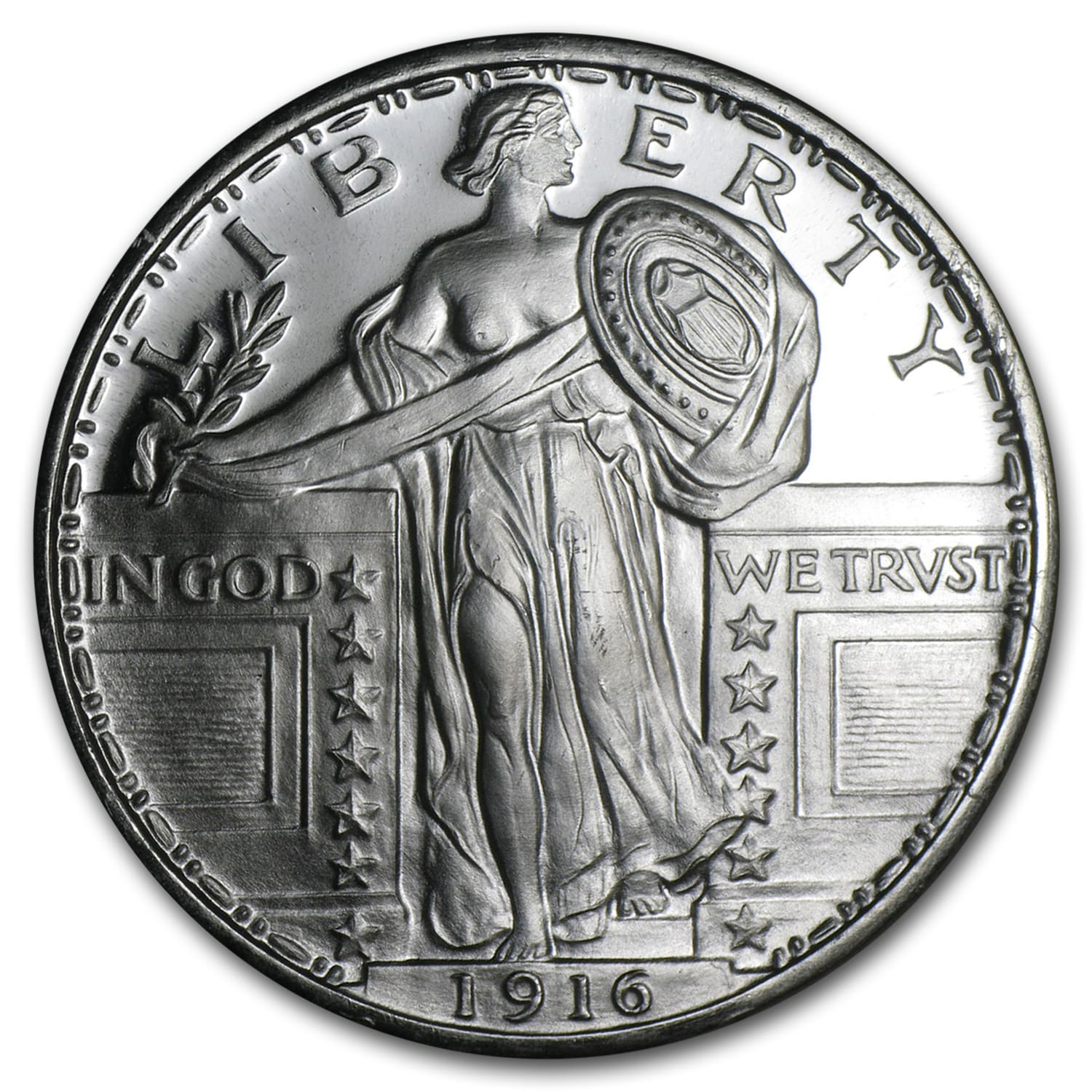 1 oz Silver Round - Standing Liberty