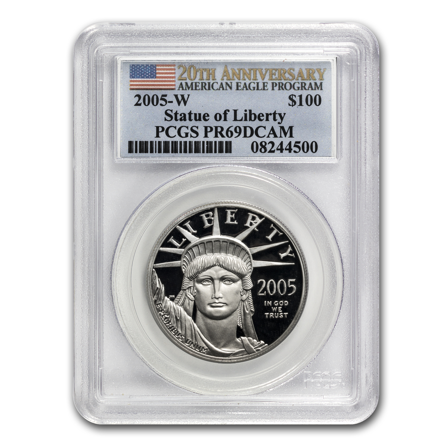 2005-W 1 oz Proof Platinum American Eagle PR-69 PCGS