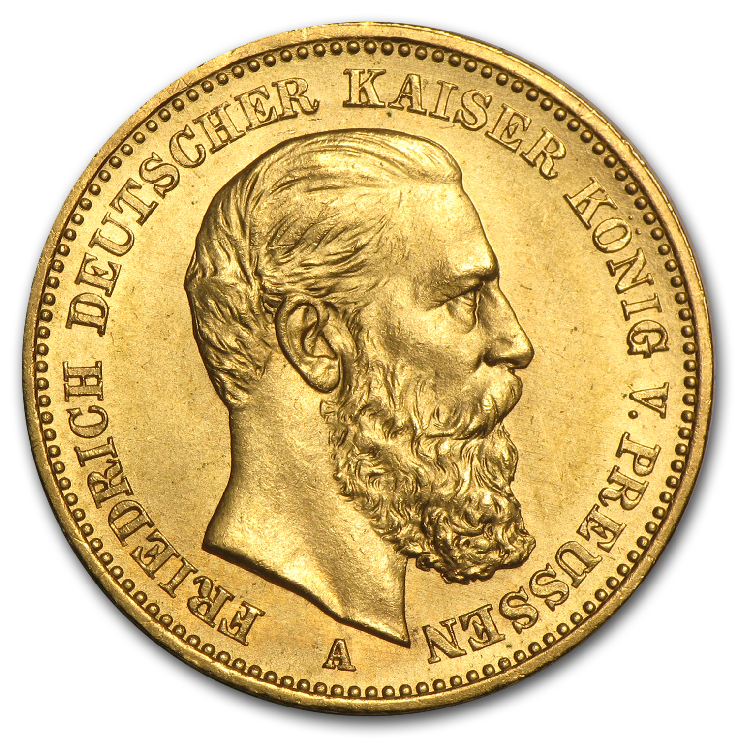 1888 Germany Gold 20 Mark Prussia Friedrich III Avg Circ