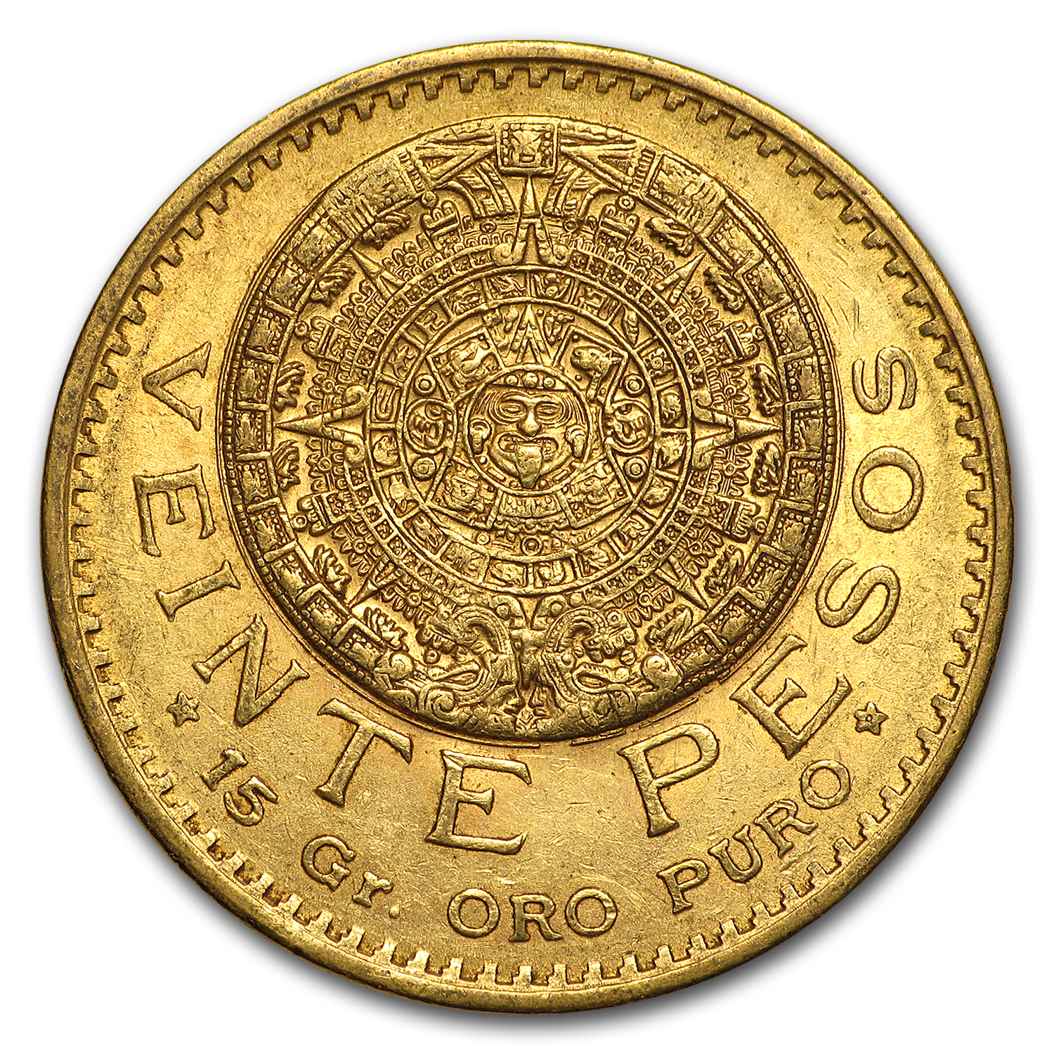 1920 Mexico Gold 20 Pesos XF