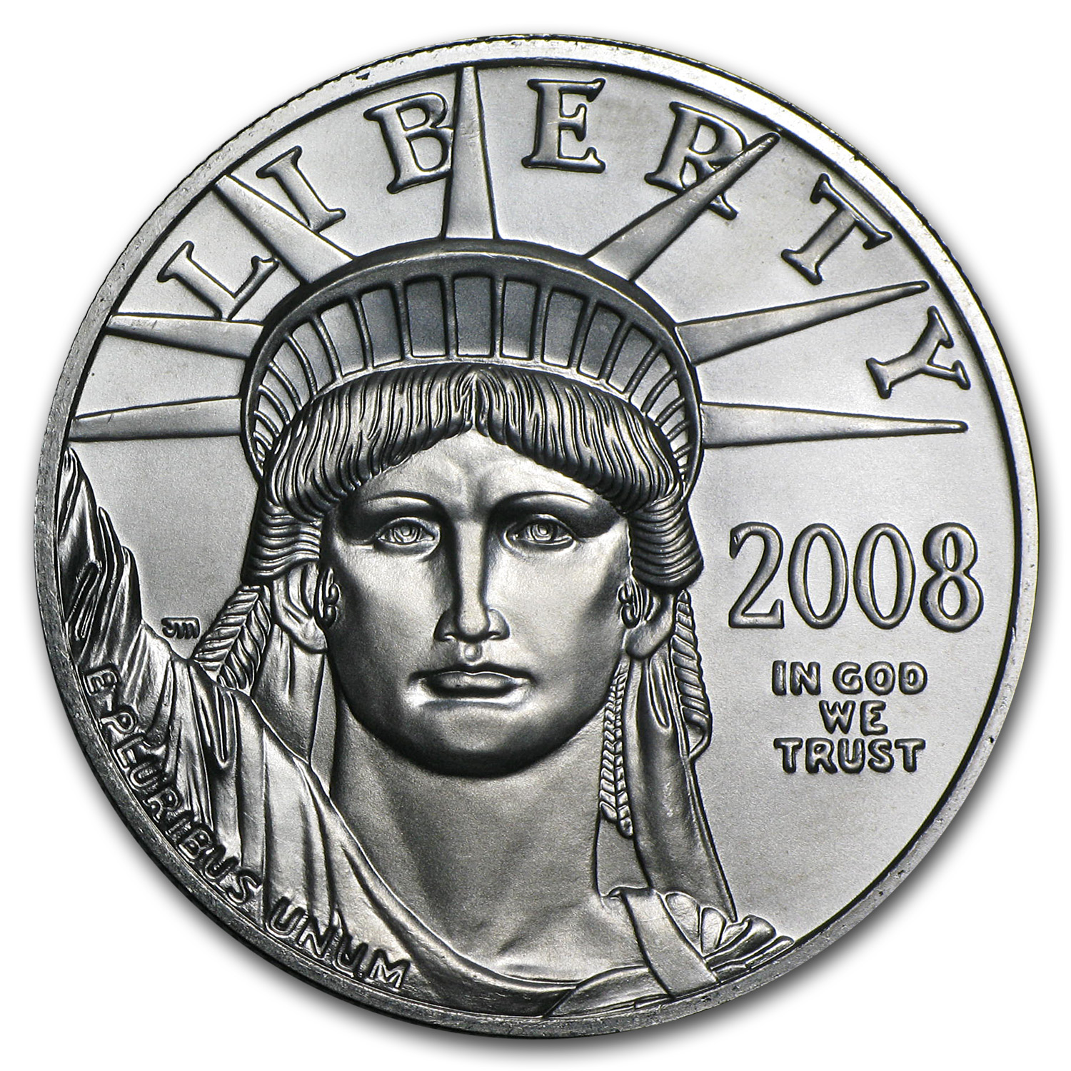 2008 1 oz Platinum American Eagle BU