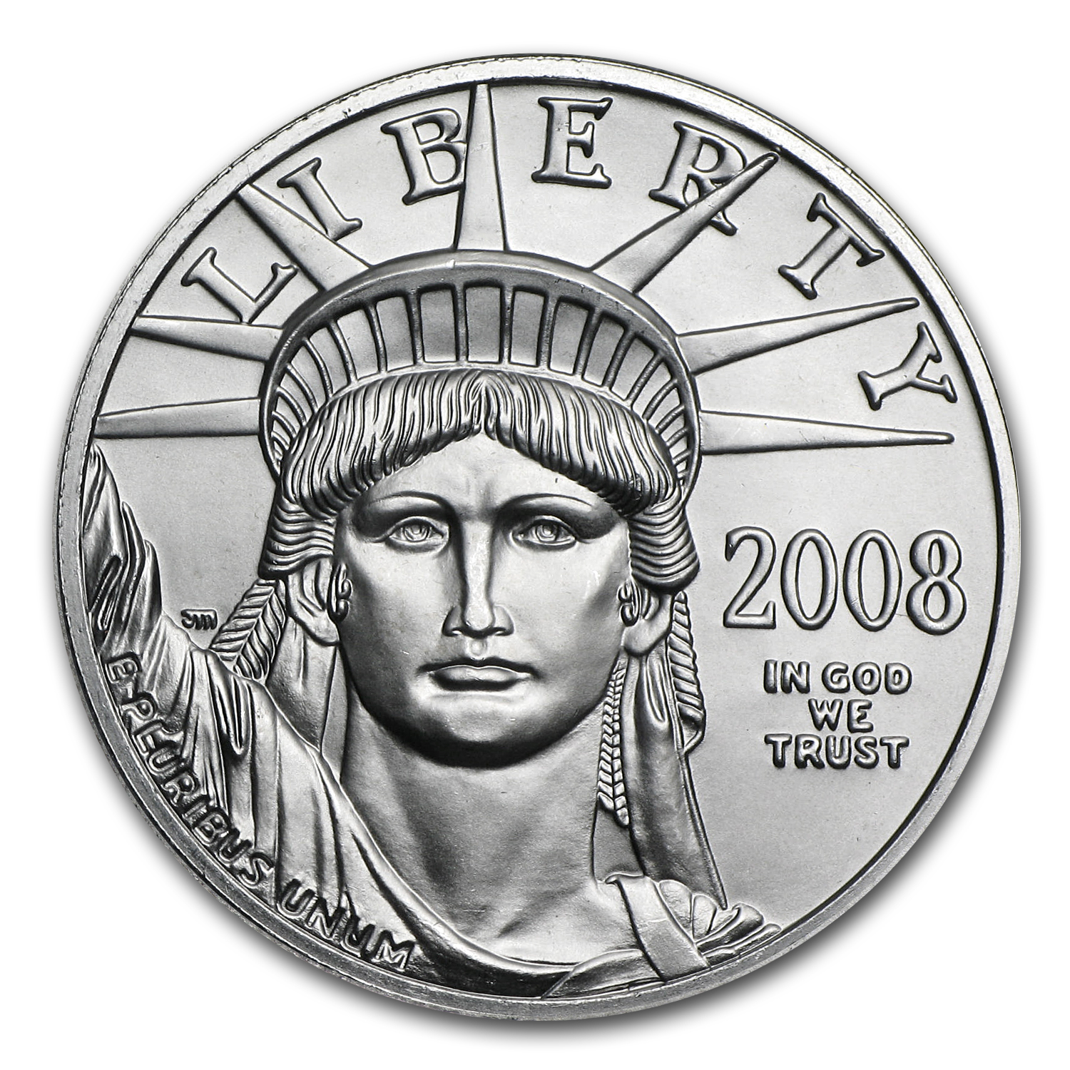 2008 1/2 oz Platinum American Eagle BU
