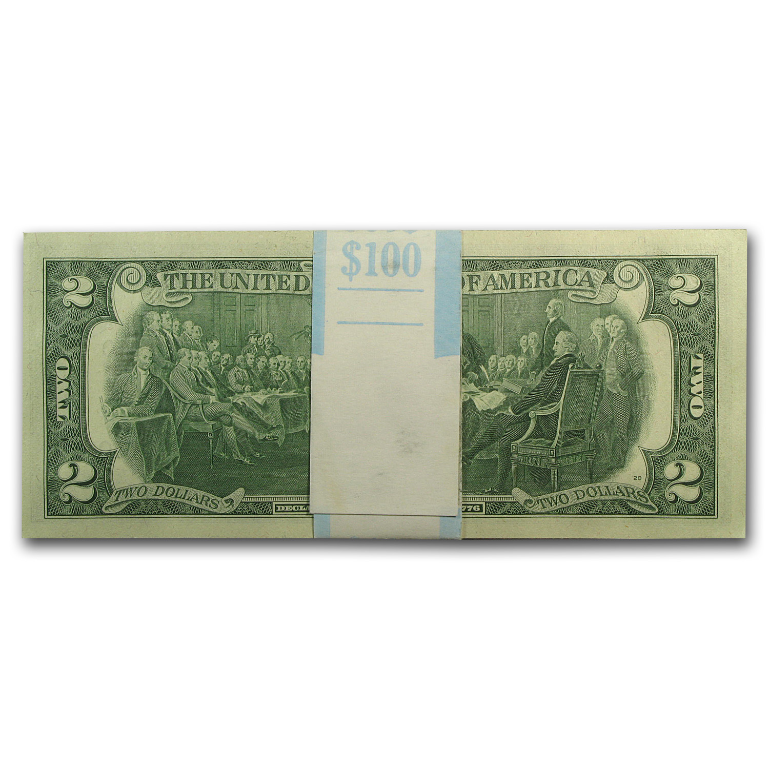 1976 (J-Kansas City) $2.00 FRN CU (50 Notes)