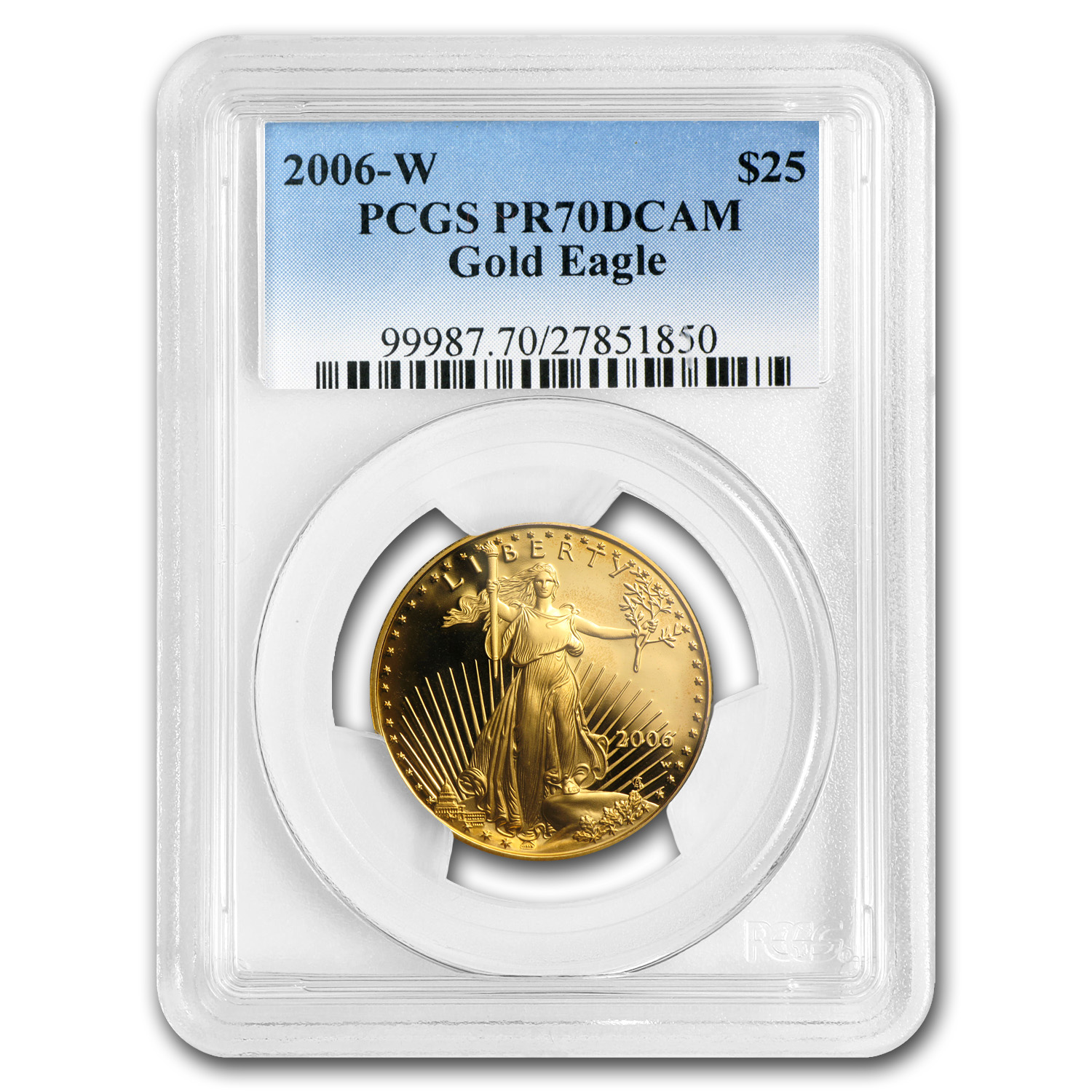 2006-W 1/2 oz Proof Gold American Eagle PR-70 PCGS
