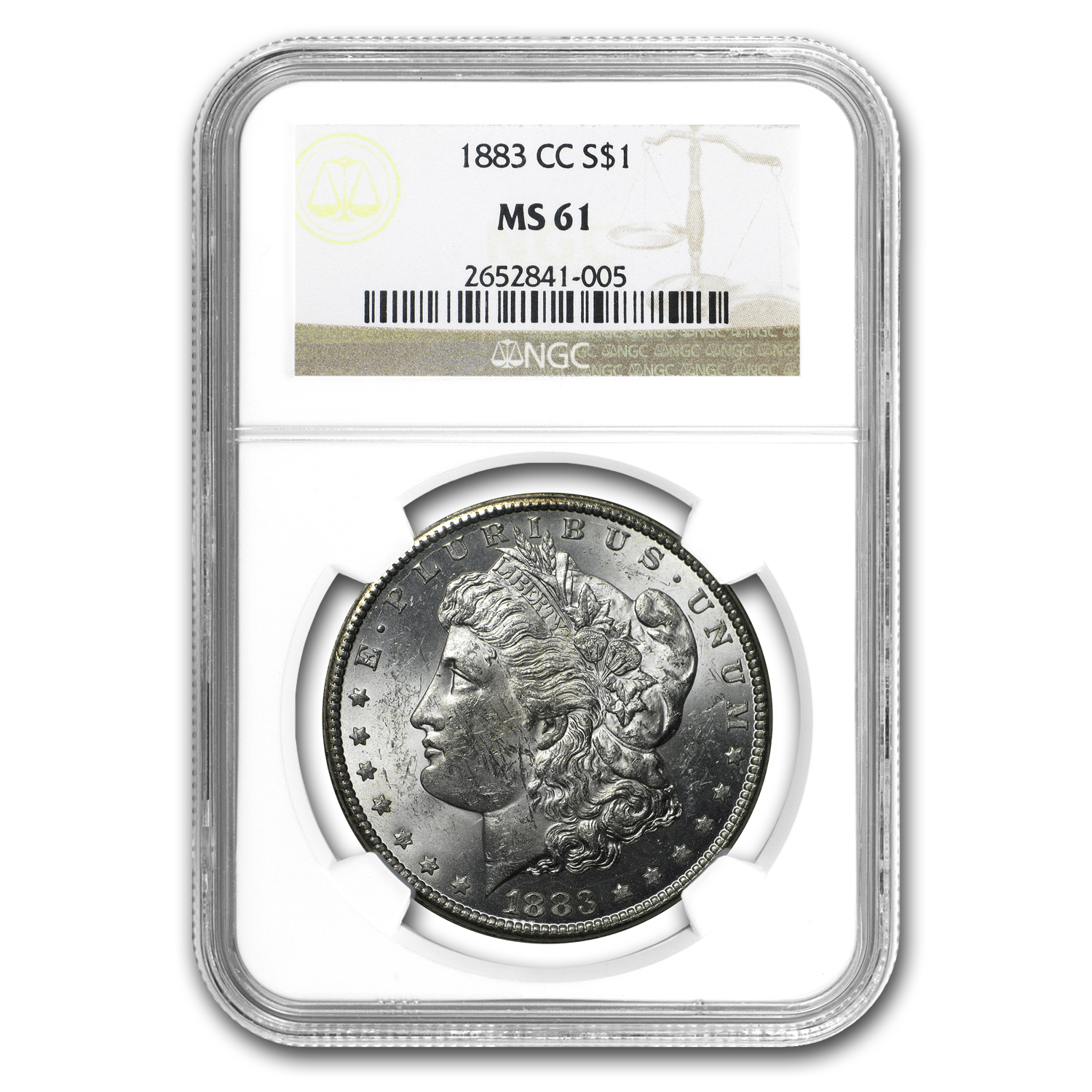 1883-CC Morgan Dollar MS-61 NGC