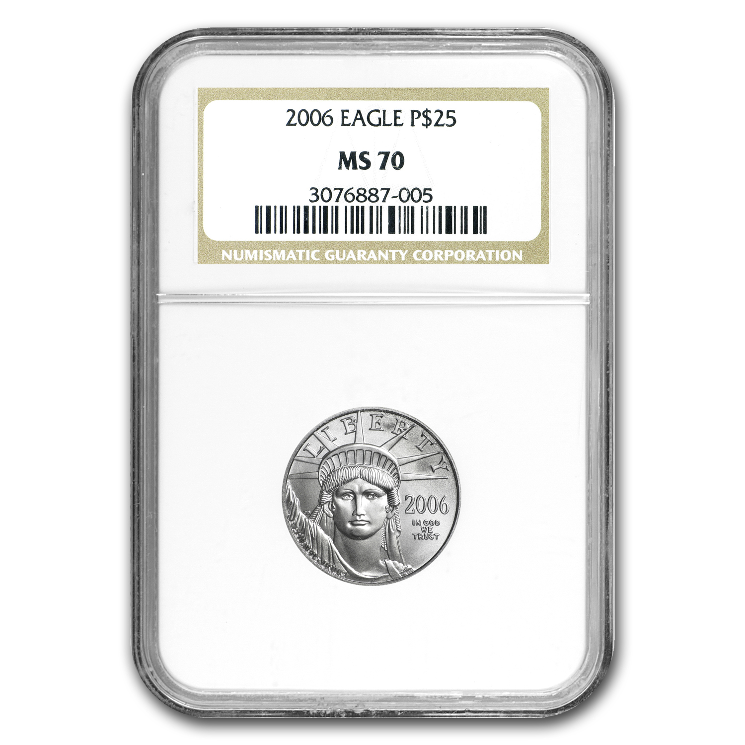 2006 1/4 oz Platinum American Eagle MS-70 NGC