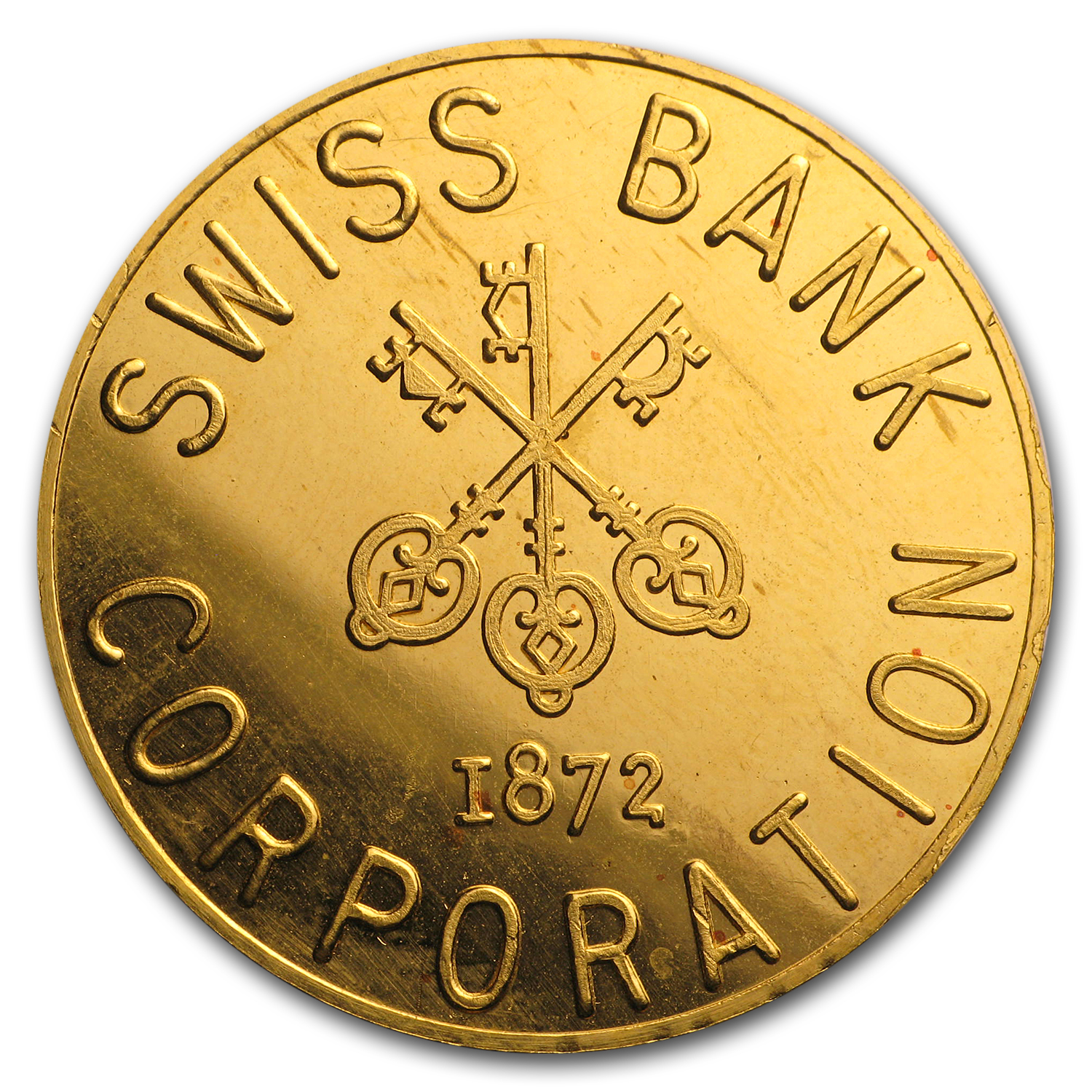 1 oz Gold Round - Swiss Bank Corporation