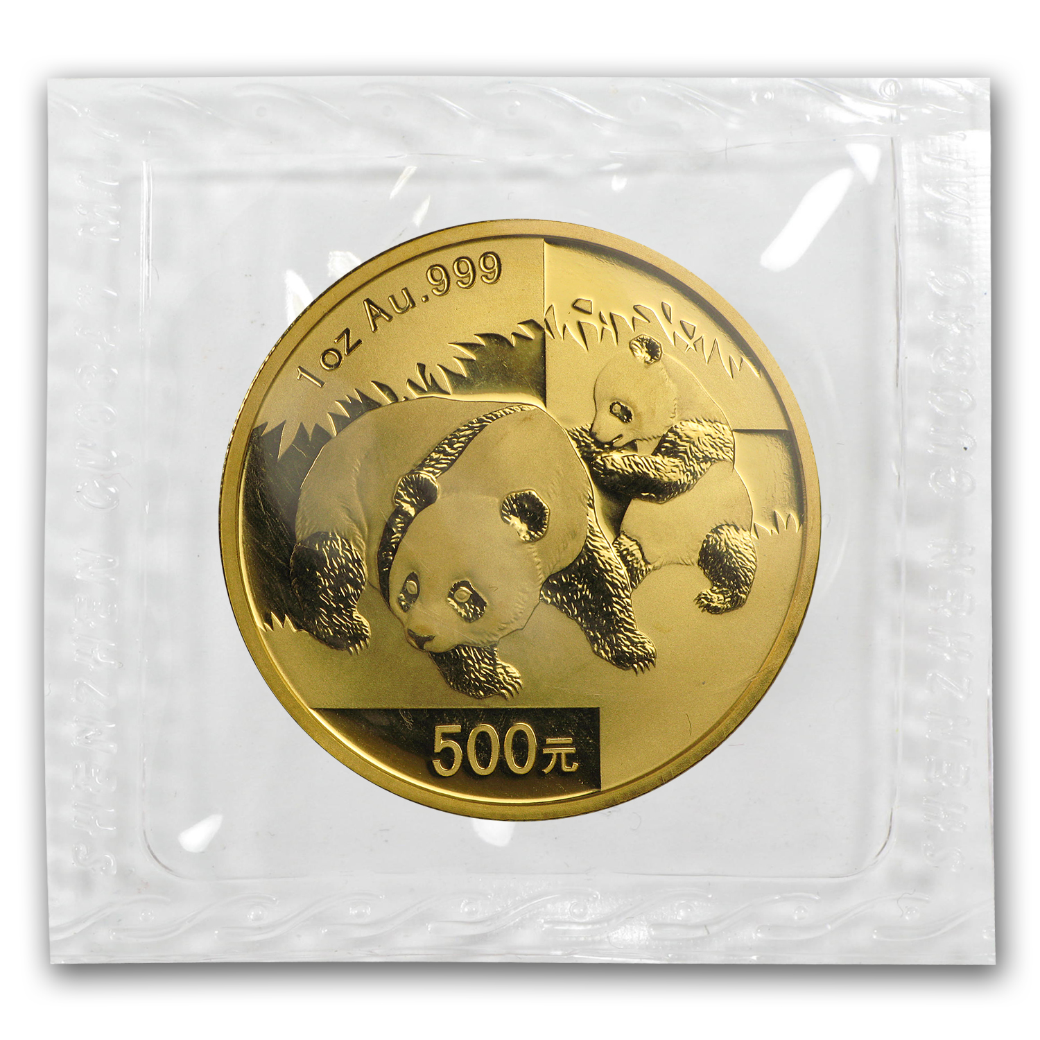 2008 China 1 oz Gold Panda BU (Sealed)