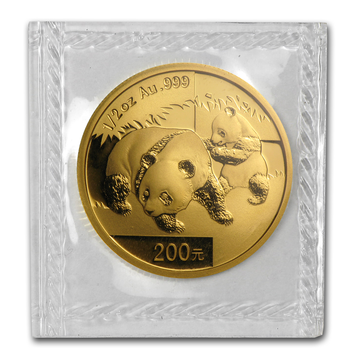 2008 1/2 oz Gold Chinese Panda BU (Sealed)