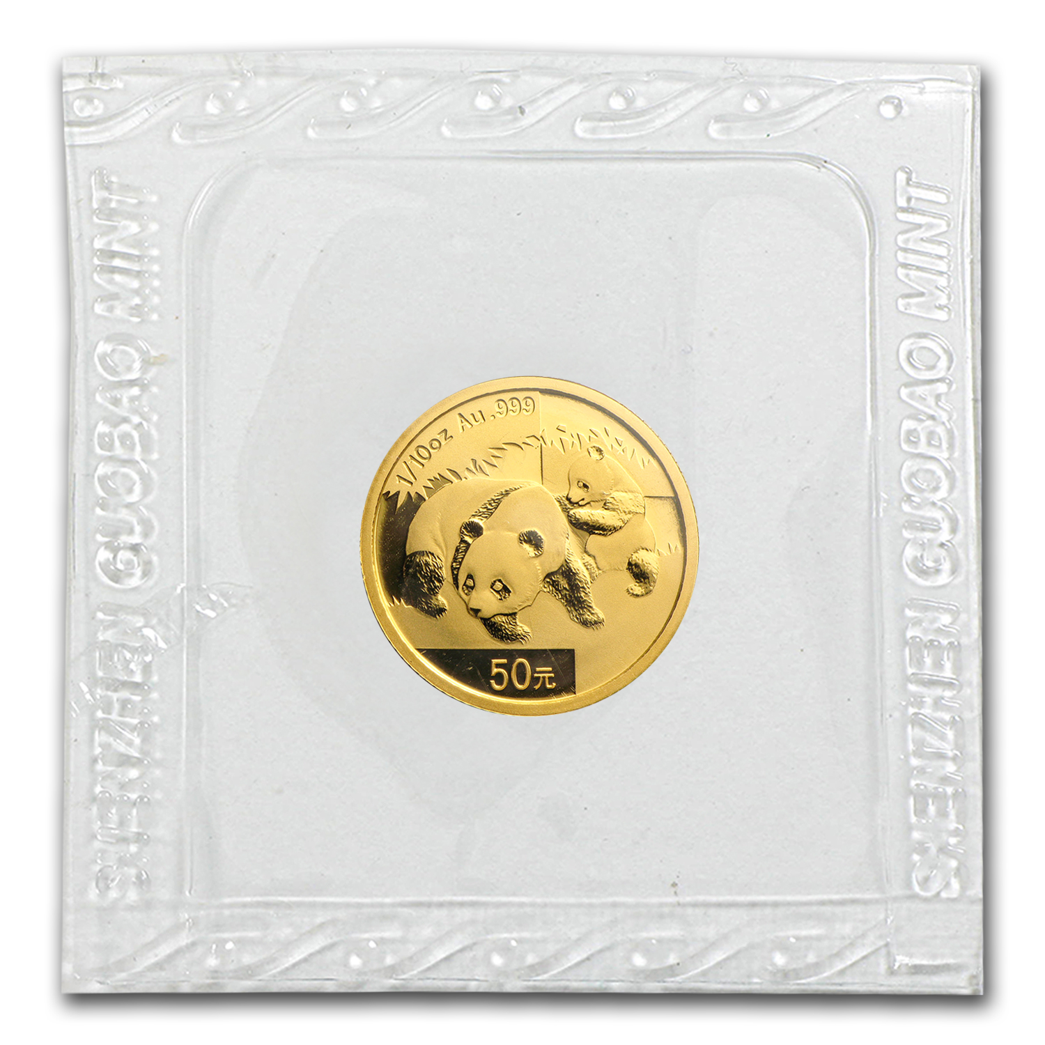 2008 1/10 oz Gold Chinese Panda BU (Sealed)