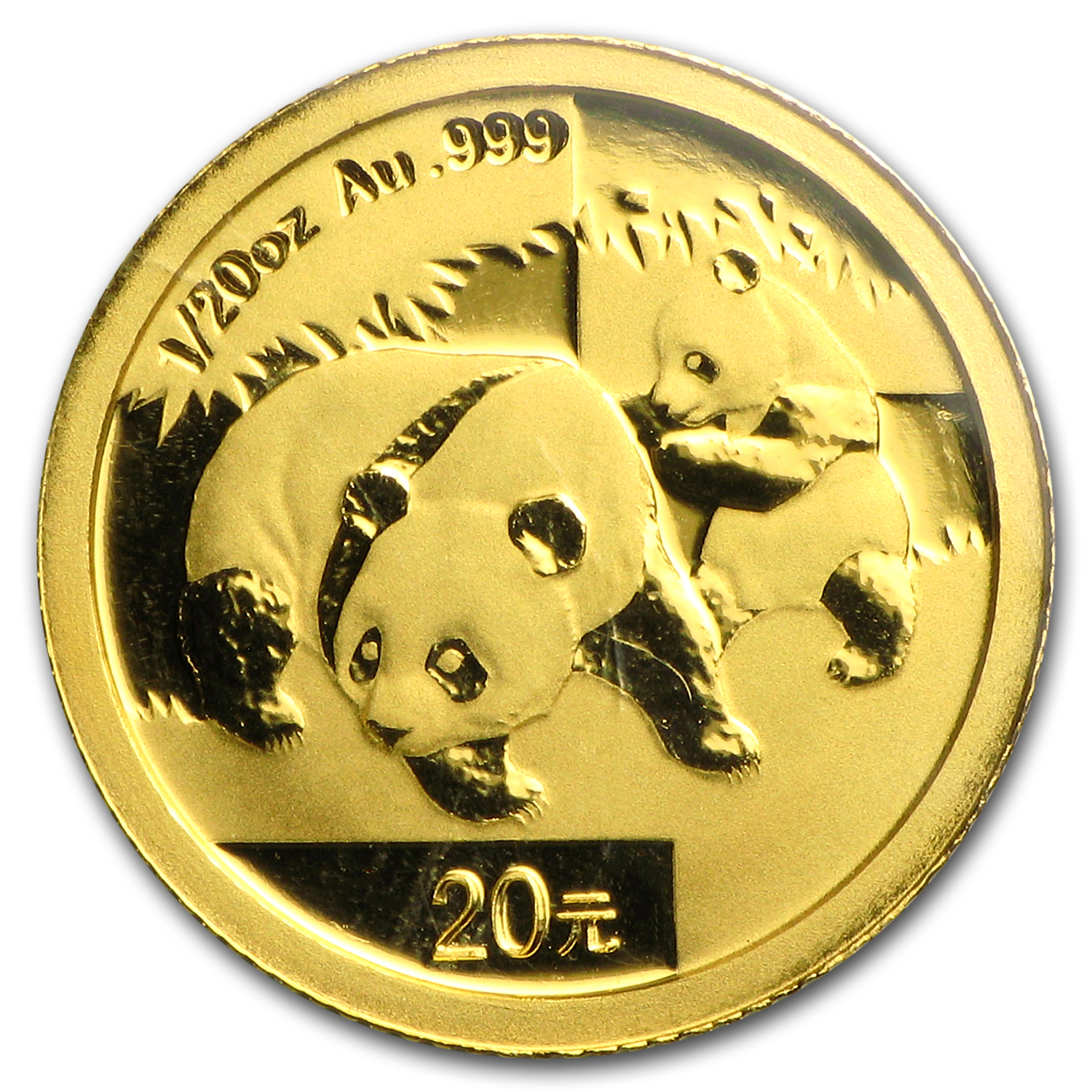 2008 China 1/20 oz Gold Panda BU (Sealed)
