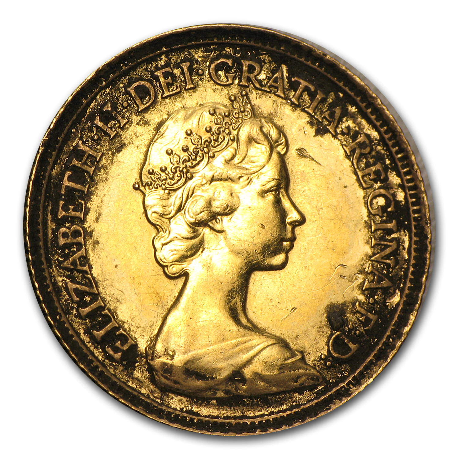 Great Britain Gold 1/2 Sovereign (Scruffy, Cleaned &/or Damaged)