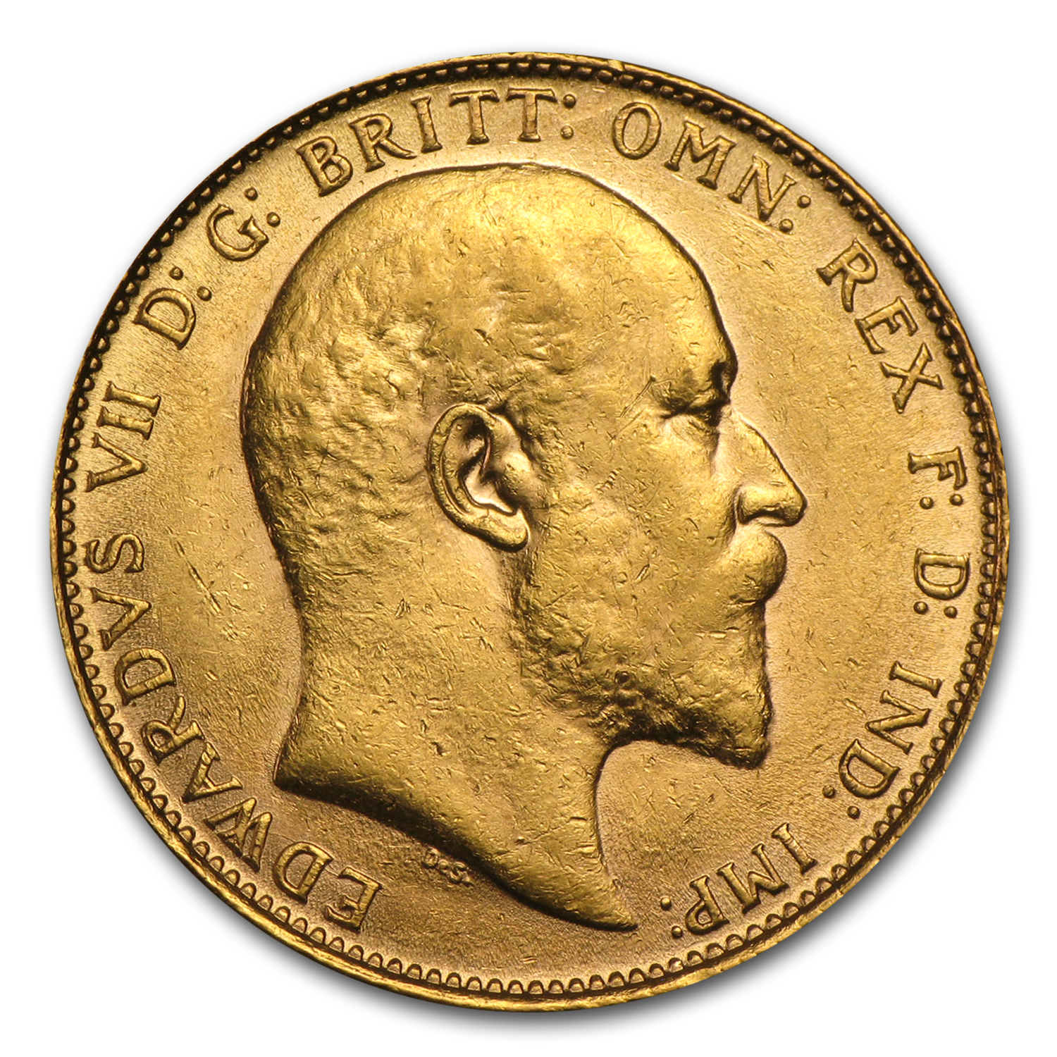 1902-1910 Great Britain Gold Sovereign Edward VII AU
