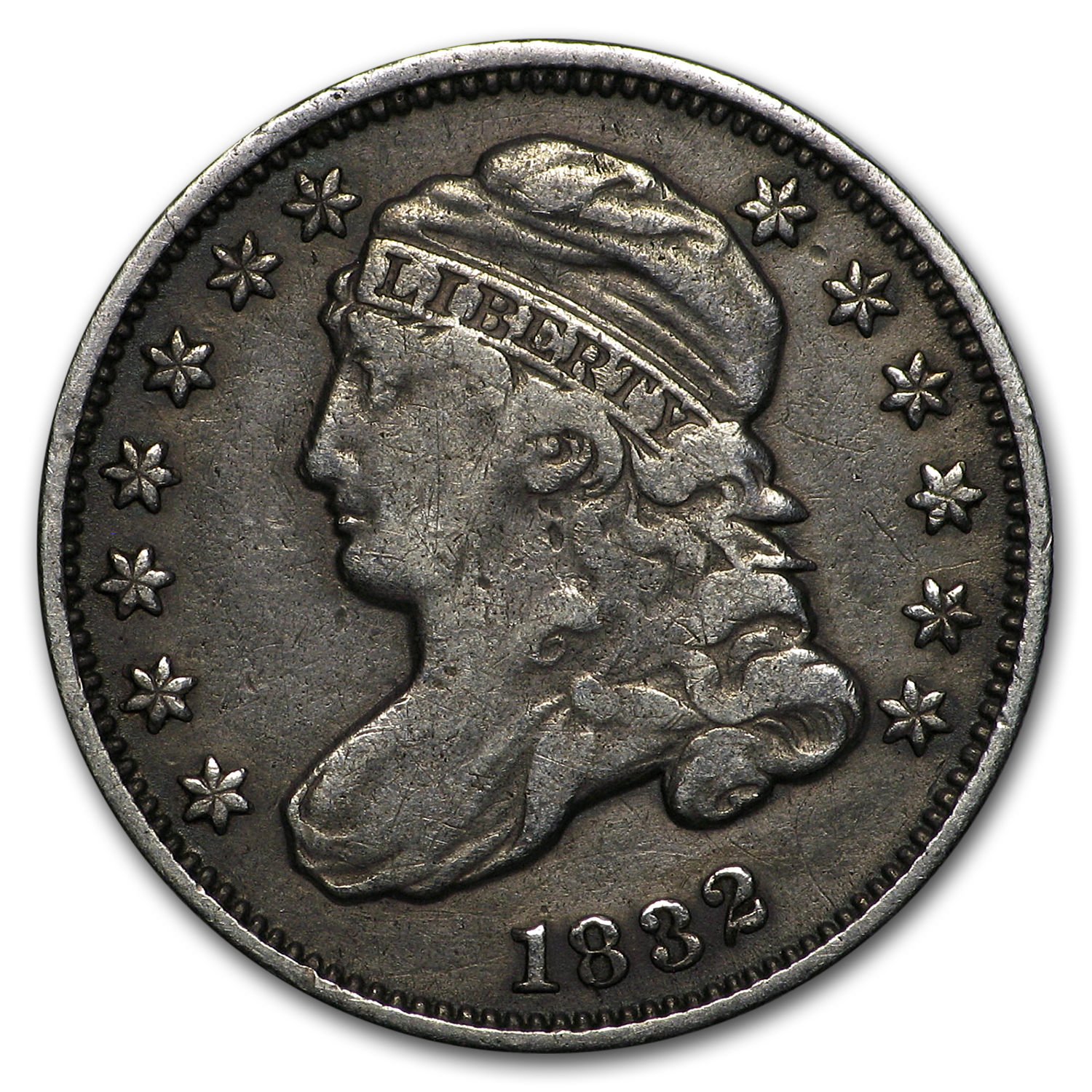 1832 Capped Bust Dime VF
