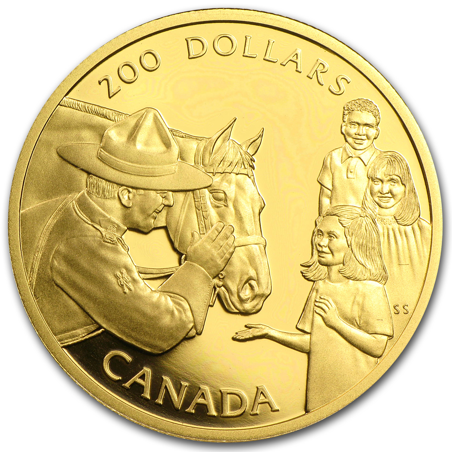 1993 Canada 1/2 oz Proof Gold $200 Mounted Police