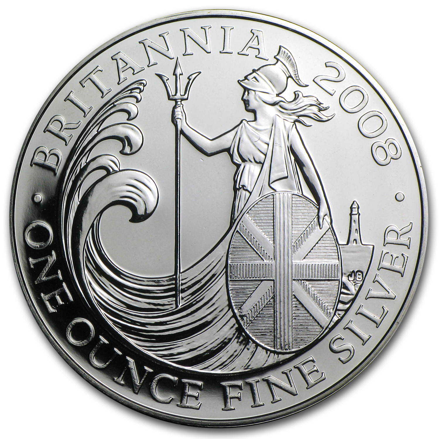 2008 Great Britain 1 oz Silver Britannia BU