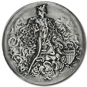 6.43 oz Silver Round - Mercury (Messenger God)