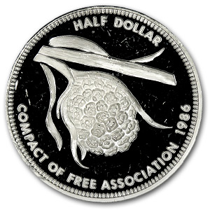 1986 Marshall Islands Silver Half Dollar Proof
