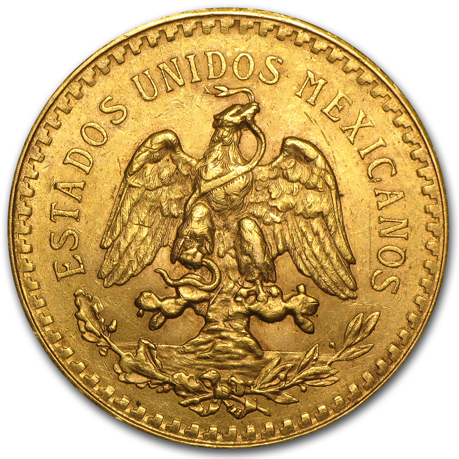 1925 Mexico Gold 50 Pesos AU