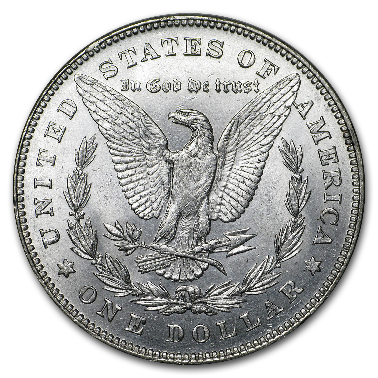 1878 Morgan Dollar 7/8 Tailfeathers AU-58