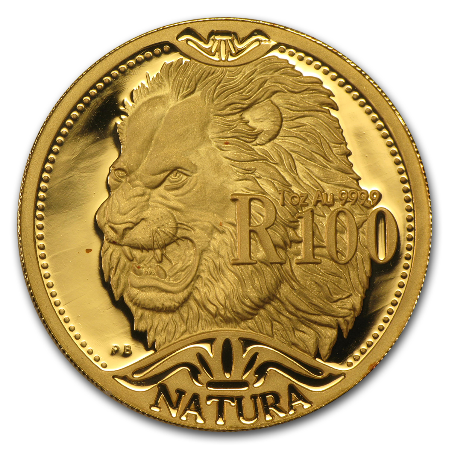 2003 South Africa 1 oz Proof Gold Natura Lion
